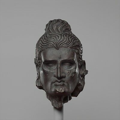 """Head of the Fasting Siddhartha c3rd–5th cent,12x8""""(A4) Poster"""