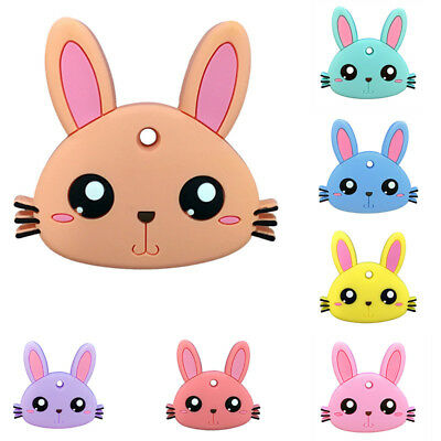 Silicone Cute Rabbit Shape Baby Teething Toy Toddler Infant Teether Gum Massager