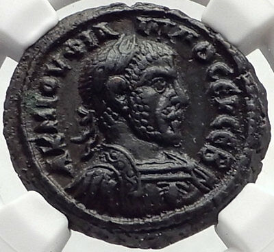 PHILIP I the Arab Authentic Ancient 244AD Alexandria Egypt Roman Coin NGC i70264