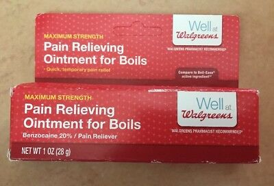 Walgreens Max Strength Pain Relieving Ointment For Boils 1 Oz Exp
