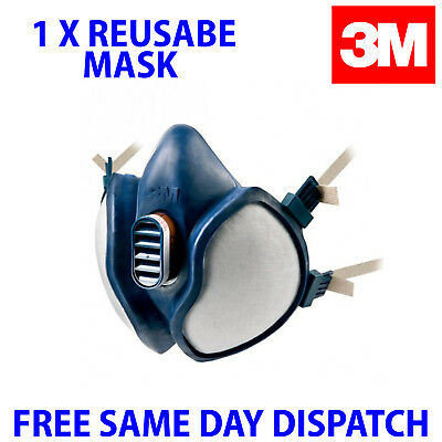 3M Respirator Dust Mask Spray Paint Maintence Free Resuable Vapour Re use 06941