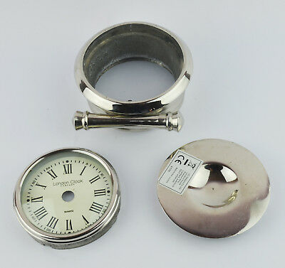 Round London Clock Company Clock Dial & Metal Case Part for clock making,7cm dia