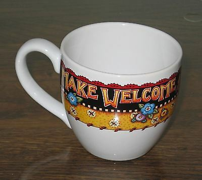 "Lovely Mary Engelbreit ""Make Welcome the Present Guest"" Coffee Cup"