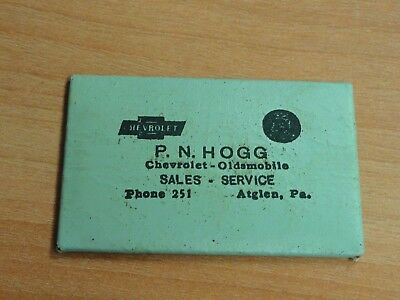 Atglen, Pa.  Vintage Hogg Chevrolet Oldsmobile Advertising Pocket Mirror