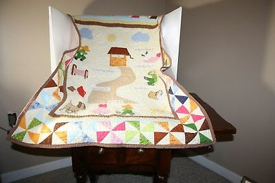 "Jack And Jill, Baby Quilt, Pre owned, ""Betty's Sew Creation?"", 42"" x 33""."