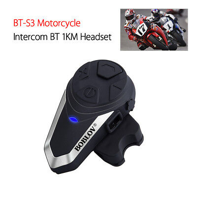 bt-s3 motorrad bluetooth headsets fm radio wireless intercom 1km rufe kopfhörer
