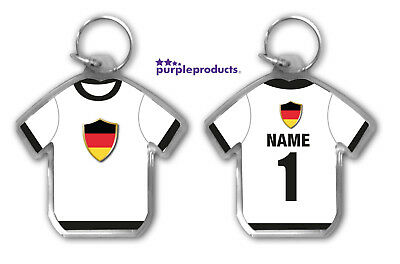 Personalised GERMANY 2018 World Cup Football Team Supporters Keyring