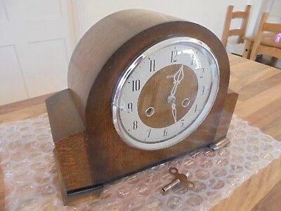 "Lovely Oak ""Smiths Enfield Striking Mantle Clock"" F,W,O"