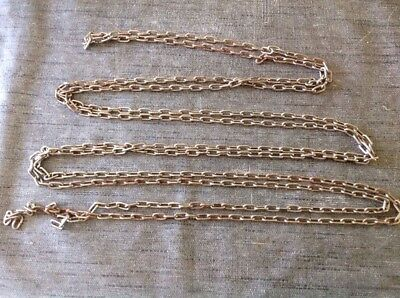 Chain 3.6m Long Approx Links 12x6mm Ex Clockmakers Clock Spare Parts