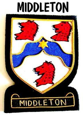 Middleton Scottish Clan Name Badge New Hand Embroidered Cp Made - Good Deal