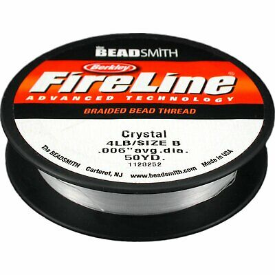 Fireline Braided Crystal Beading Thread .006 In 50 Yd