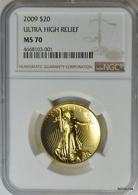 2009 Ultra High Relief Gold Double Eagle Ngc Ms-70