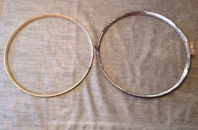 "Antique Wall Clock Brass Bezel 12.5"" 315mm Dia.+ 11.75"" 300mm Retaining Ring"