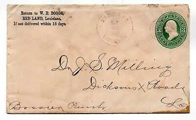 RED LAND, Louisiana, 1883 Cover w/ Letter on Advertising Stationery