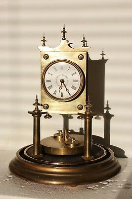 Early 400.day clock torsion clock anniversary clock dome clock small patent dial