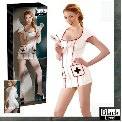 Costume sexy Infermiera in vinile bianco Black Level Sexy shop toys erotic nurse