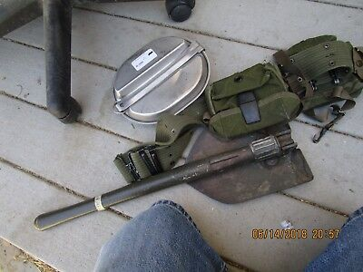 ww2 Vietnam korea US Army mess kit shovel belt ammo WWii usmc vintage antique