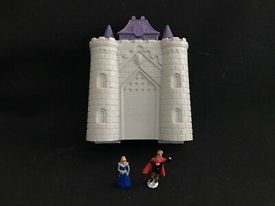 Vintage polly pocket style SLEEPING BEAUTY  Castle   plus figures