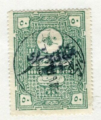 TURKEY; Early 1900s fine used Fiscal 50p. value