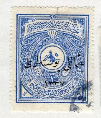 TURKEY; Early 1900s fine used Fiscal 1Pi. value