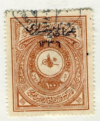 TURKEY; Early 1900s fine used Fiscal 100Pi. value