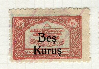 TURKEY; 1930s early AIRMAIL issue surcharged Mint hinged value