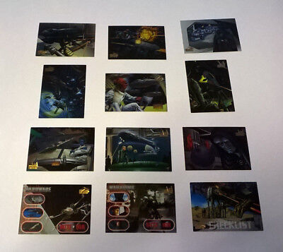 12 x STAR WARS VEHICLES Cards from TOPPS 1997