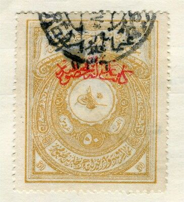 TURKEY; Early 1900s Fiscal issue Optd. fine used 50p. value