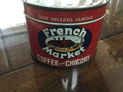 Vintage French Market Coffee Full With Key