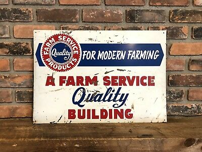 Original Quality Farm Products Sign Gas Oil Agricultural Tractor