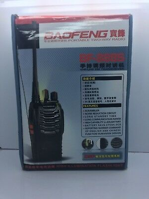 2x BaoFeng BF-888S Plus 400-470MHz UHF Two-Way FM Walkie Talkie Radio + Earpiece