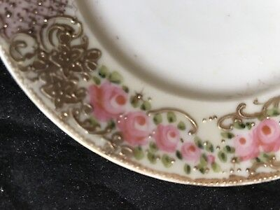 Antique Hand Painted Rippon Small Plate