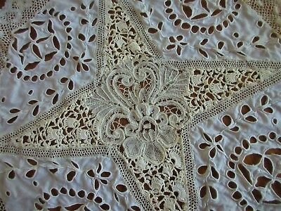 antique lace,HANDMADE,LIKE A SAMPLER ALL DIFFERENT TYPES OF LACE,STUNNING DOILY