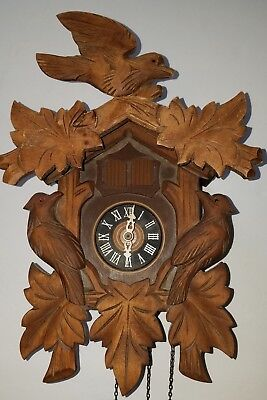 Vintage Musical Black Forest Cuckoo Clock (Plays Dr Zhivago)-Complete- WORKS!