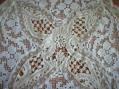 antique lace,HANDMADE,LIKE A SAMPLER ALL DIFFERENT TYPES LACE,STUNNING DOILY,#2