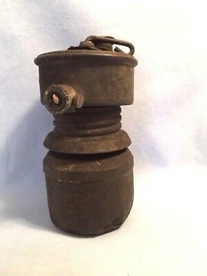 Early GUY'S DROPPER Miners Carbide Lamp, One-Date 1914, RARE Mining Light