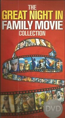 The great night in family kids movie collection. Brand new 15 movies included R