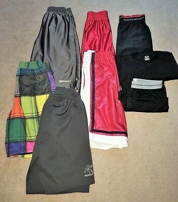 6 Piece Lot of Boys Athletic Shorts Thermal Set Size 14 - 16 Excellent!
