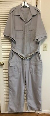 Mens BASS PRO OUTDOORS Gray Short Sleeve Coveralls Jumpsuit Size XXL Tall