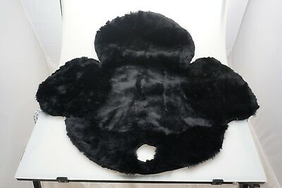 Smooth Merino Sheepskin Western Horse Saddle Seat Saver Cover black wst-bk 21`