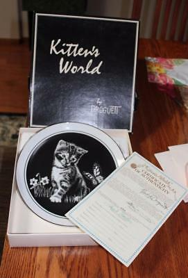 Royal Cornwall Plate 3 KITTENS WORLD  ARE YOU A FLOWER DROGUETT