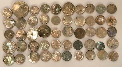 Lot Of 25 Old Stock Mother Of Pearl – Abalone Shell Cutouts (#2)
