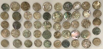 Lot Of 25 Old Stock Mother Of Pearl – Abalone Shell Cutouts (#10)