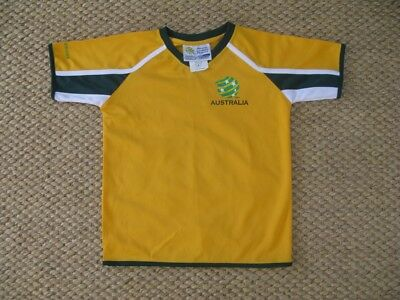 Official Socceroos Jersey Shirt Kids Size 8