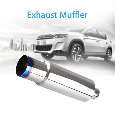"Exhaust Muffler With Silencer For Car With 2.5"" Diameter Inlet Easy Install New"
