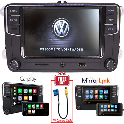 "6.5"" Car Audio MIB2 RCD330 RCD510 Carplay MirroLink BT RVC VW TIGUAN PASSAT GOLF"