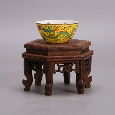 Chinese ancient antique hand mak dragon  cup