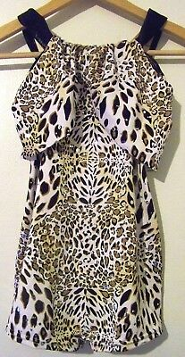 Curtain Call Costumes Girls Animal Print Dance Outfit Biketard Size Large