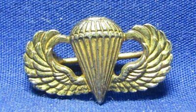 WWII Sterling Army Airborne Paratrooper Jump Wings Dress Badge by Coro