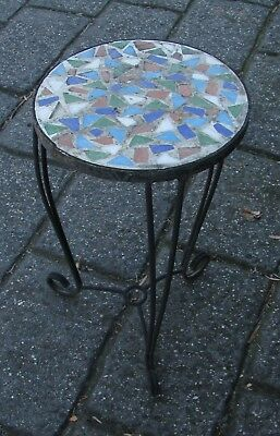 Retro Iron Table Pot Plant Stand / Side Table